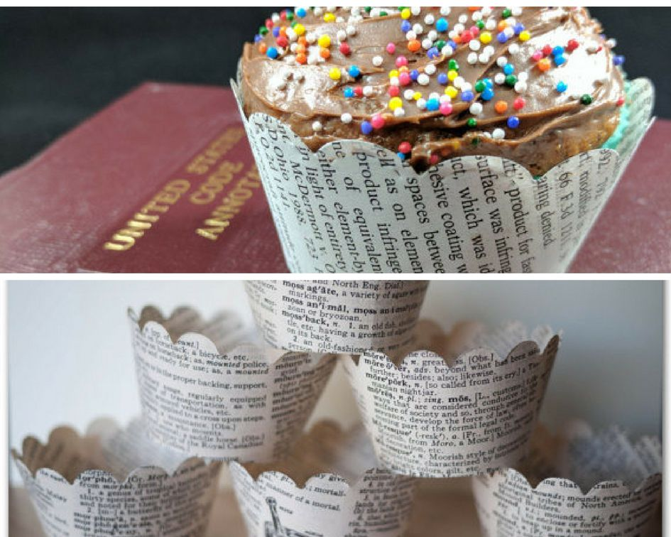 Legal dictionary cupcake liners