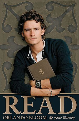 Orlando Bloom ALA Read Poster