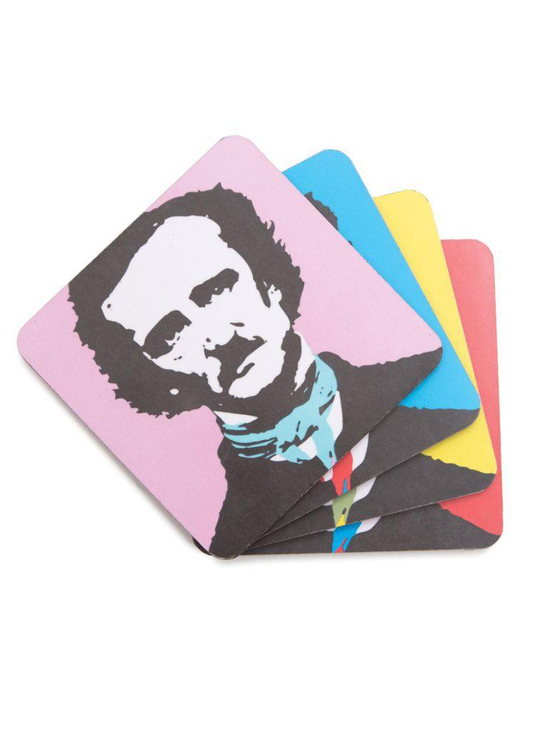 Edgar Allan Poe colorful coaster set