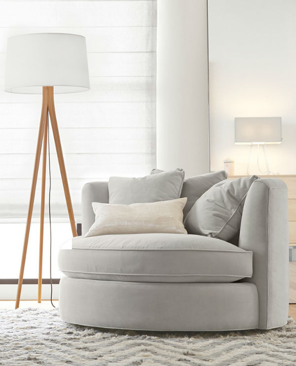 fabric reading chair amazing reading chair and ottoman design your furniture online White on White Sunny Side Up Lounge Chair ($995)