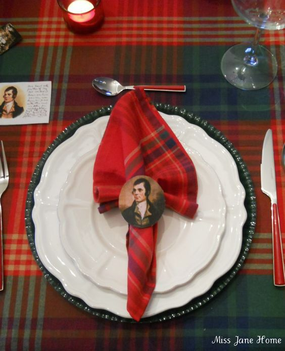 Burns Night table decoration ideas | Bookriot.com