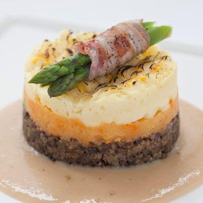 Burns Night haggis neeps and tattie stack supper idea | Bookriot.com