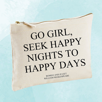 happy nights to happy days zipper bag