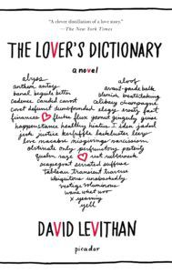 lover's dictionary david levithan romance unconventional format