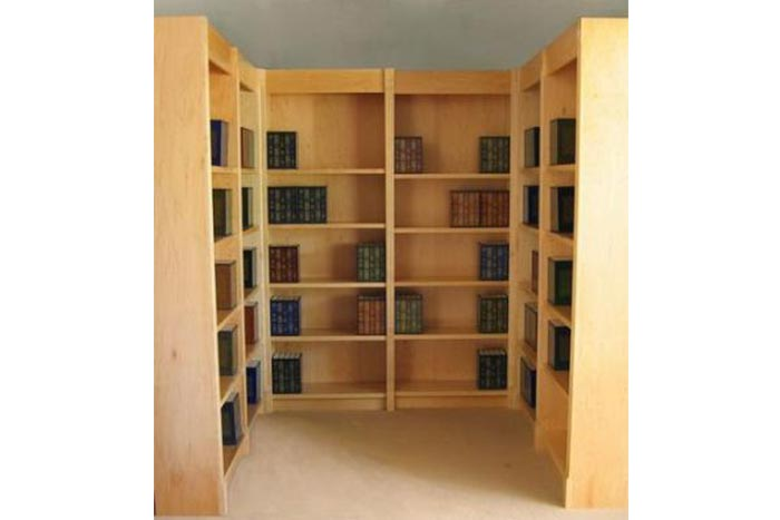 two corner maple library by bookwalls - Home Library Bookshelves
