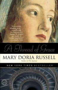 A Thread of Grace Mary Doria Russell cover in 100 Must Read Books About World War II | bookriot.com