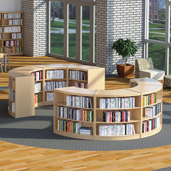 i get a certain comfort of being surrounded in a cocoon of safety im already feeling my stress level drop in these curved shelves that would create - Library Bookshelves