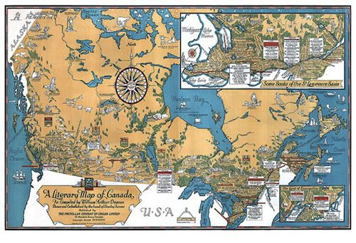 Literary Map of Canada in Ten Beautiful Literary Maps on Etsy | BookRiot.com