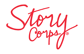The logo for StoryCorps videos about books and reading