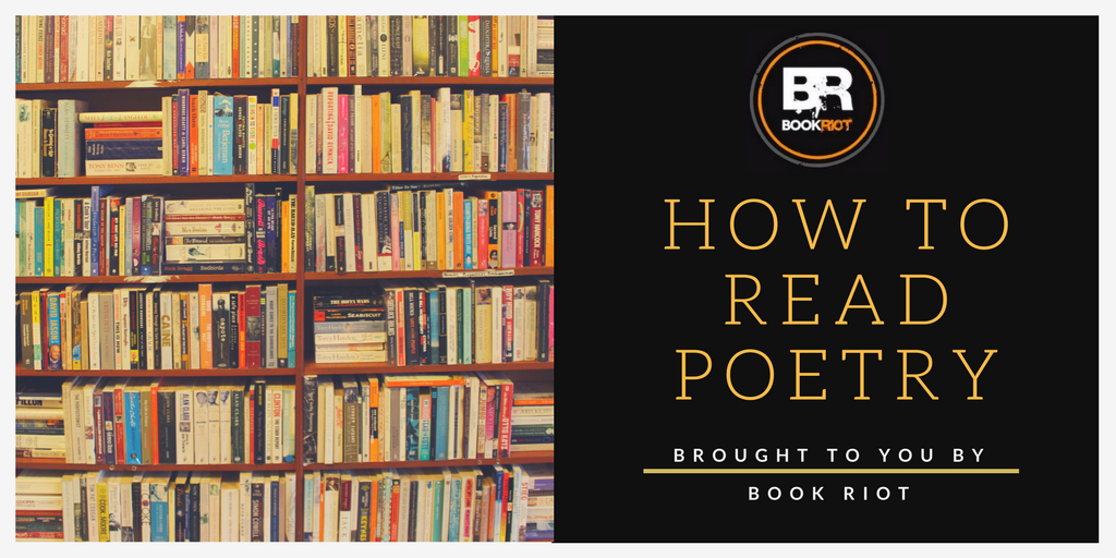 shelves of books: words - how to read poetry