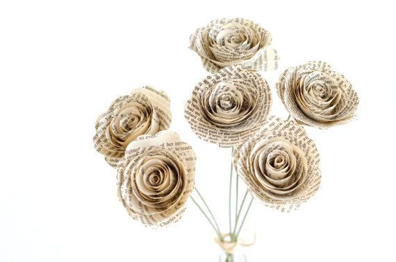 Jane Austen gifts, Paper book roses