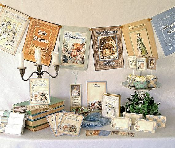 Jane Austen gifts, Party kit