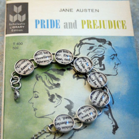 Jane Austen gifts, Book bracelet