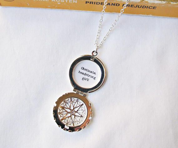 Jane Austen gifts, Locket with quote