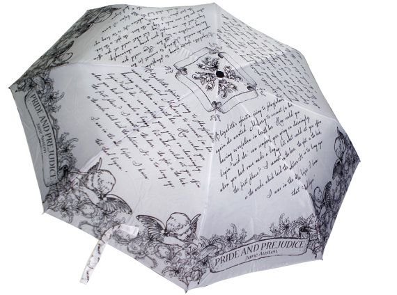 Jane Austen gifts, Pride & Prejudice umbrella