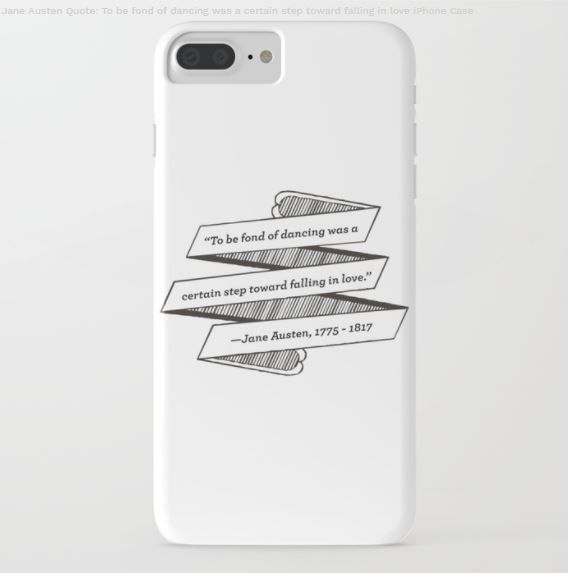 Jane Austen gifts, Phone case