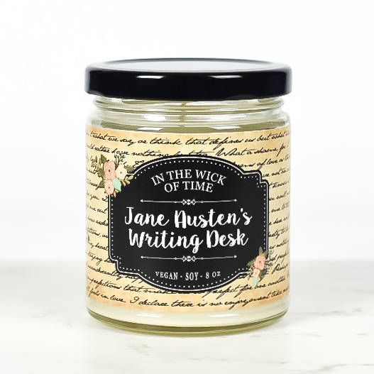 Jane Austen gifts, Jane's Writing Desk Candle