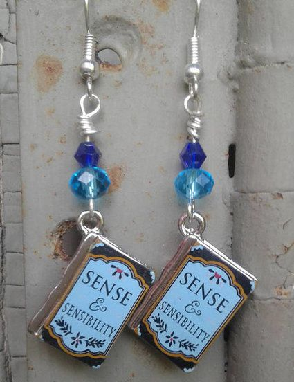 Jane Austen gifts, Book earrings