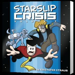 Book cover of Kris Straub's Starslip Crisis Volume 3