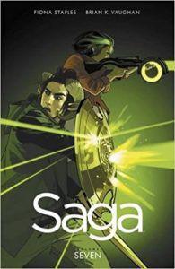 Saga Volume 7 by Brian K Vaughn and Fiona Staples