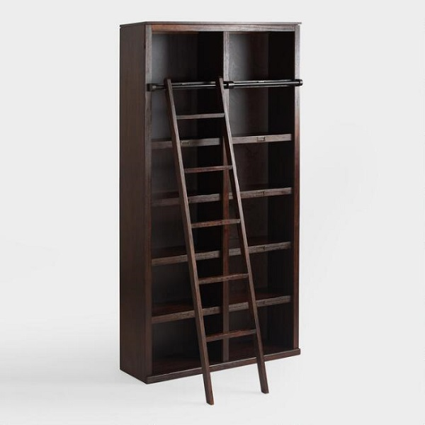 A buyers guide to the most beautiful library ladders espresso augustus bookshelf ladder im breaking the rules with this one just a hair because technically youre supposed to buy the augustus bookshelf to solutioingenieria Gallery