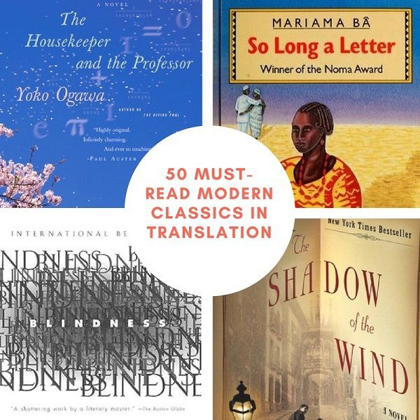 50 Must Read Modern Classics in Translation | Bookriot.com