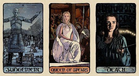 Game of Thrones tarot by Liz Dean and Craig Coss