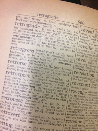 Vintage Retrograde Definition