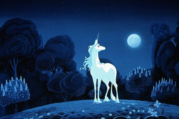 Scene from The Last Unicorn in 10 Movies You Didn't Know Were Based on Books | BookRiot.com