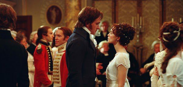 Elizabeth Bennet and Mr. Darcy at the Dance