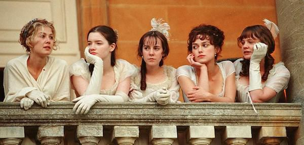Elizabeth Bennet Standing with Her Sisters