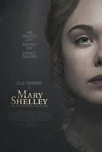 movie poster for the mary shelley movie trailer starring elle fanning