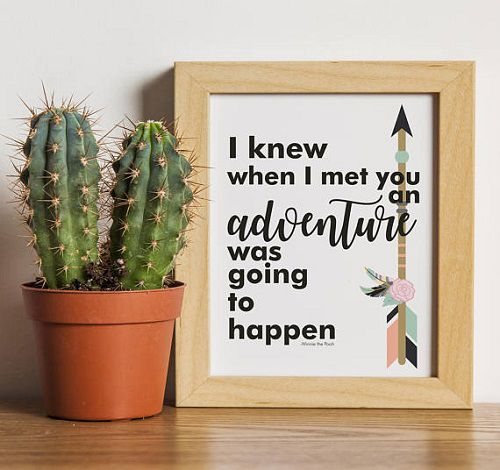 a a milne quote print