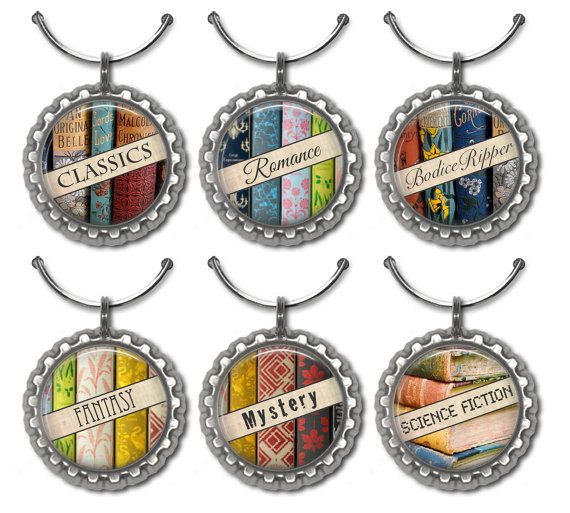 KEYCHAIN AND WINE CHARM BOOK CLUB GIFT IDEAS