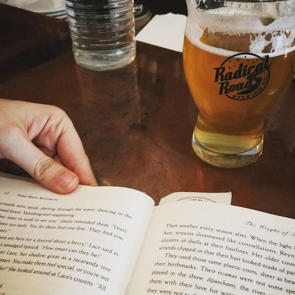 Reading at Toronto based brewery Radical Road. Public Places to Read (Other Than a Café)