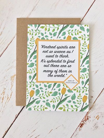 kindred spirits anne of green gables greeting card