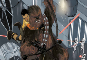 Star Wars: Chewbacca Art from A Beginner's Guide to Star Wars Comics | bookriot.com
