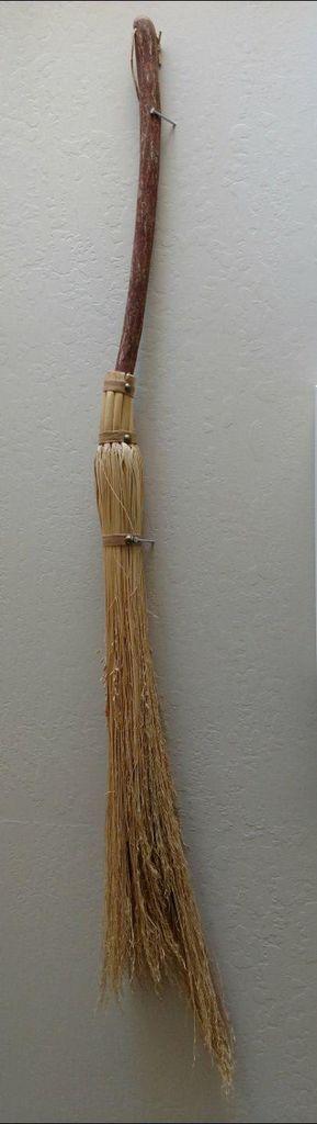 mesquite and wheat handmade broom