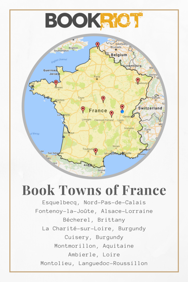 book towns of france map