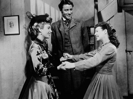 Elizabeth Taylor, Peter Lawford, and June Allyson in Little Women (1949) in In Defense of Amy March | BookRiot.com
