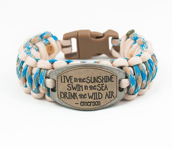 Emerson quote bracelet