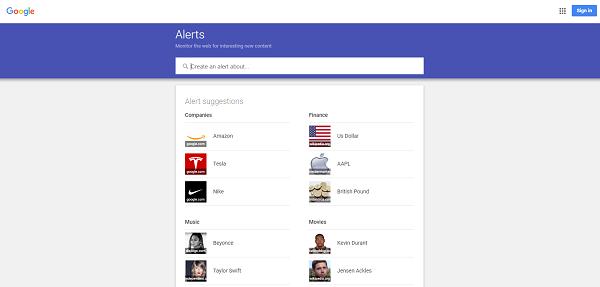 Google Alerts Book News