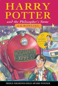 Cover of Harry Potter and the Philosopher's Stone by J.K. Rowling in Literary Tourism: Scotland | BookRiot.com