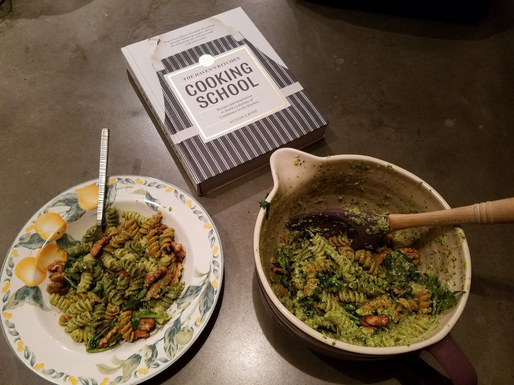Pesto with Arugula and Toasted Walnuts from The Haven's Kitchen Cooking School by Alison Cayne