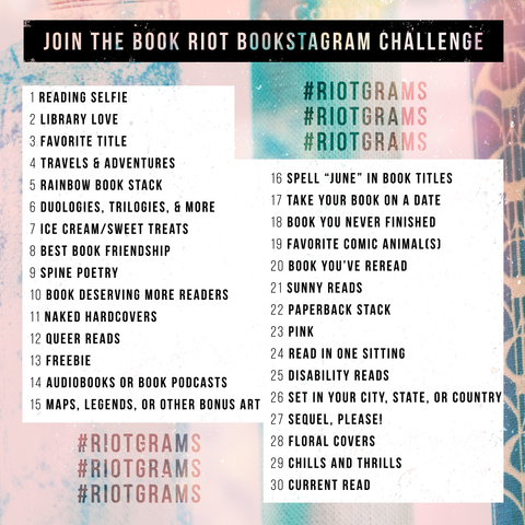 Book Riot Instagram Challenge #Riotgrams June 2018