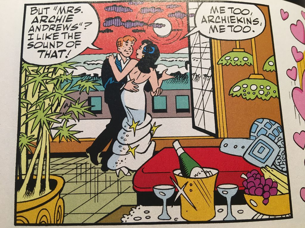 Veronica and Archie dance on the evening of their wedding | Wedding Gifts for Comic Lovers