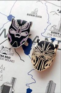 Black Panther Pins from from 20 Enamel Pins For The Comic Geek | bookriot.com