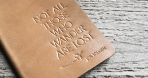 JRR Tolkien Not All Those Who Wander are Lost leather passport holder