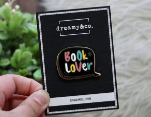 Book Lover Pin from 25 Bookish Enamel Pins You Need In Your Life | bookriot.com