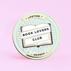Book Lovers Club from 25 Bookish Enamel Pins You Need In Your Life | bookriot.com